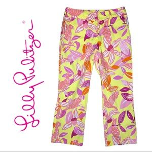 EUC Lilly Pulitzer Pacific Wing Cropped Pant Sz 2